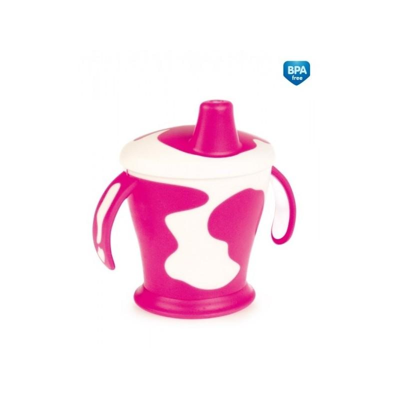 Tasse avec anses  'Little cow' rose