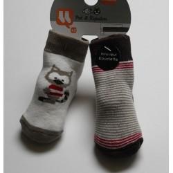 2 paires de chaussettes 'Pat et Ripaton' 0-6 mois