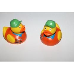 Canards de bain avec casquette verte (par 2 )