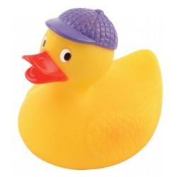 Canards de bain avec casquette violette Par 2