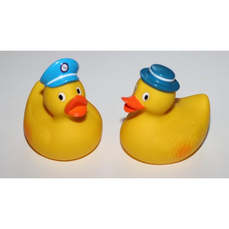 Canards de bain avec chapeau bleu par 2
