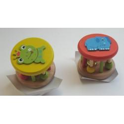 Hochets ronds (lot de 2) Elephant/Grenouille