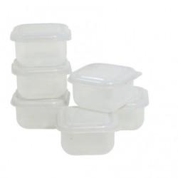 6 boites portions hermétiques
