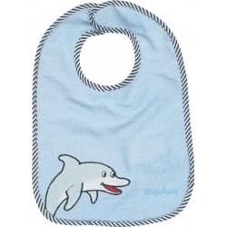 Bavoir bleu ciel motif : dauphin