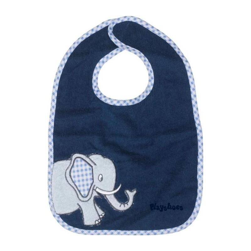 Bavoir bleu marine motif : éléphant