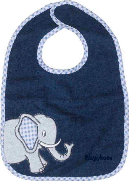 Bavoir bleu marine motif :...