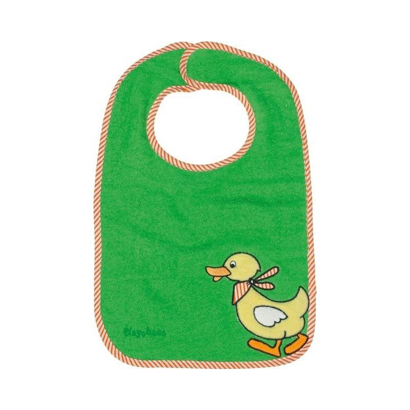 Bavoir vert motif : canard