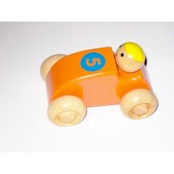 Voiture avec chauffeur tout en bois orange