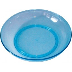 Assiette bleu acidulé 'Plastorex'
