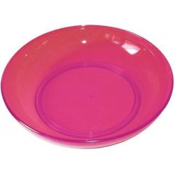 Assiette fushia acidulé 'Plastorex'