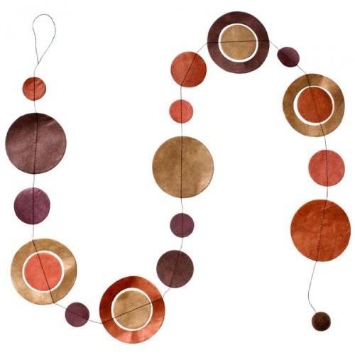 Guirlande  'planètes '  marron