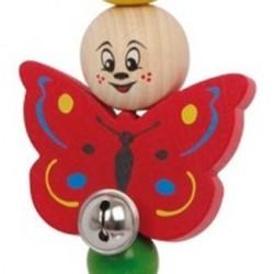 Hochet clip papillon et grelot