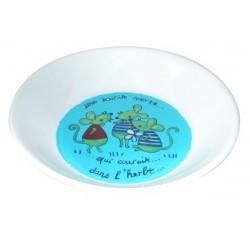 Assiette en mélanine 'Une souris verte....'