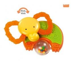 Hochet éléphant orange,...