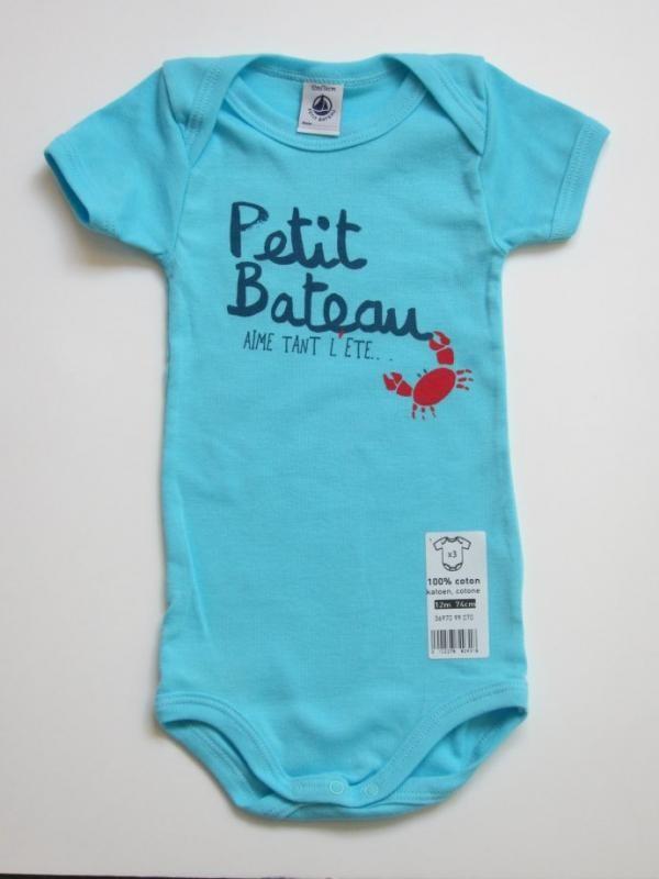 Body bleu Petit Bateau aime...
