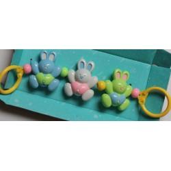 Hochet de 3 lapins