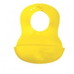 Bavoir souple jaune