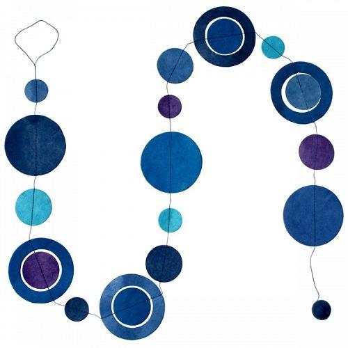 Guirlande  'planètes ' bleu