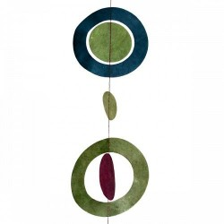 Guirlande  'planètes '  Couleur Aubergine