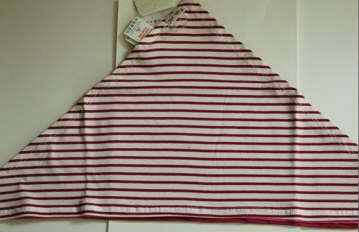Bavoir bandana  rayé rose...