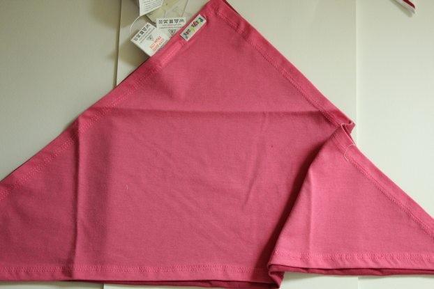 Bavoir bandana  rose