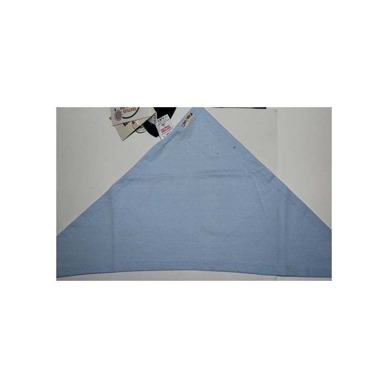 Bavoir bandana bleu ciel