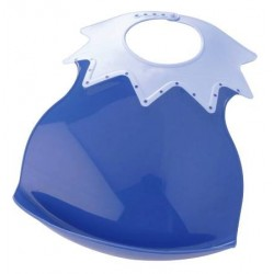 Bavoir 'Arlequin' bicolore bleu foncé