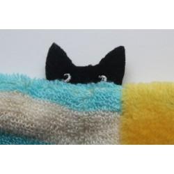 Gant de toilette en coton 'Cat Stripe'