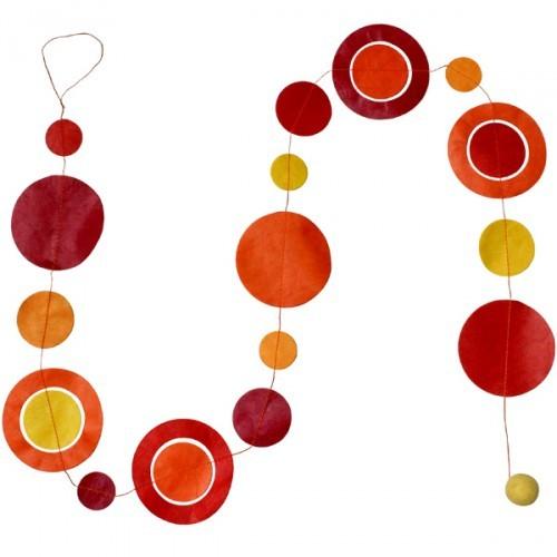 Guirlande  'planètes ' oranger