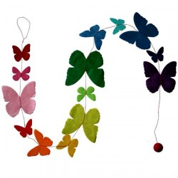 Guirlande 'Papillons unis' multicolore