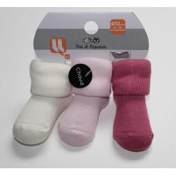 3 paires de chaussettes 'Pat et Ripaton' 0-6 mois