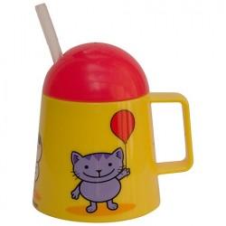 Verre avec paille 'Tiny Cat' 12 mois +