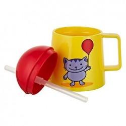 Verre avec paille 'Tiny Cat'