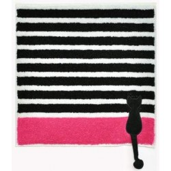 Petite serviette de toilette  'Border Color' black