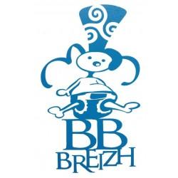 Sticker 'BB Breizh' bleu