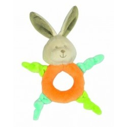 Hochet-Peluche anneau lapin