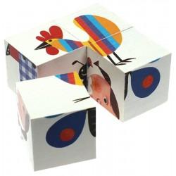 4 Mini Cubes 'Animaux'