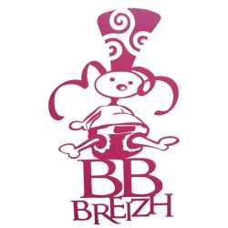 Sticker 'BB Breizh' rose