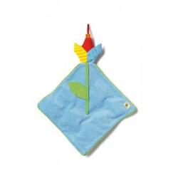 Doudou bleu 'fleur'