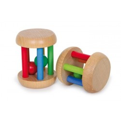 Hochets roues sonores en bois (lot de 2)