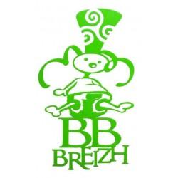 Sticker 'BB Breizh' vert