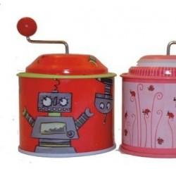 Boite à musique robot (rouge)
