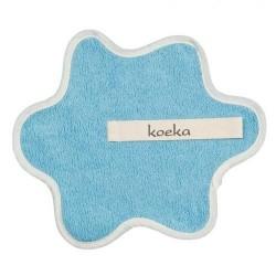 Doudou serviette attache sucette  en bleu