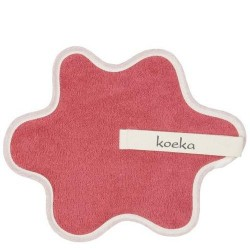 Doudou serviette attache sucette  en rose