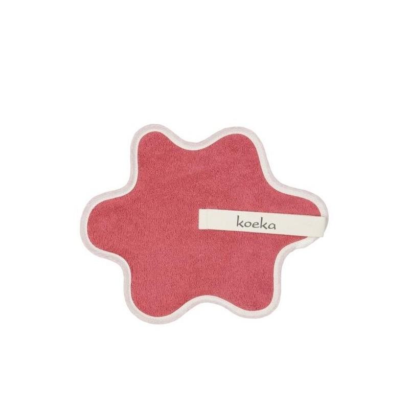 Doudou serviette attache sucette  en rose
