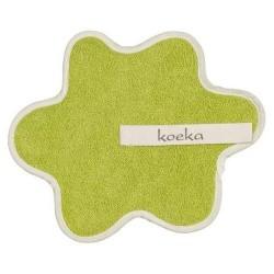 Doudou serviette attache sucette  en vert