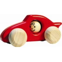 Voiture de course en bois  rouge