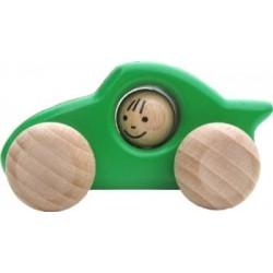 Voiture de course en bois  vert