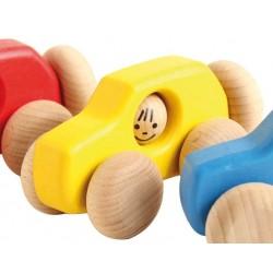 Voiture 4x4 en bois  jaune