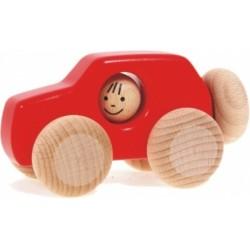Voiture 4x4 en bois  rouge